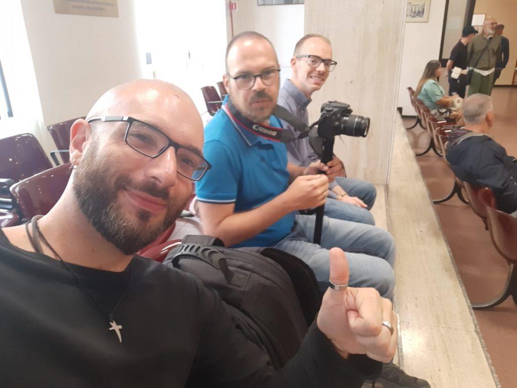 Vinicio e Manuel con Giuseppe Cesareo, altro collaboratore di Avellino Today